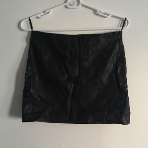 Zara pleather mini skirt